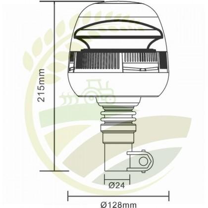 Girofar LED montaj pe stâlp